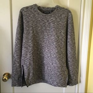 Kenneth Cole Marled Grey Zip Sweater